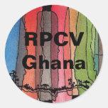 Pegatina redondo de RPCV Ghana