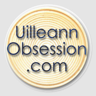 pegatina redondo de UilleannObsession.com
