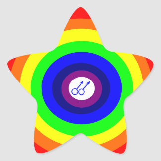 Pegatina redondo del arco iris de los hombres gay