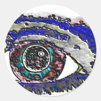 Pegatina redondo del arte del ojo