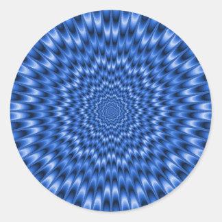 Pegatina redondo del doblador del ojo azul