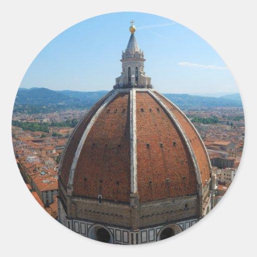Pegatina redondo del Duomo de Florencia