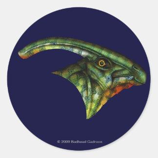 Pegatina redondo del Hadrosaur