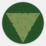 Pegatina redondo del nudo arbóreo del triángulo