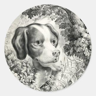 Pegatina redondo del perro