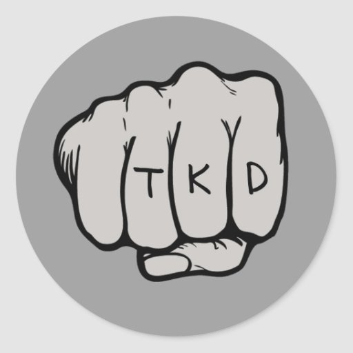 Pegatina redondo del puño de TKD