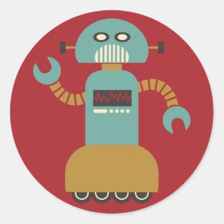 Pegatina redondo del robot del rodillo