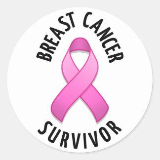 Pegatina redondo del superviviente del cáncer de