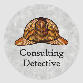 Pegatina redondo detective asesor