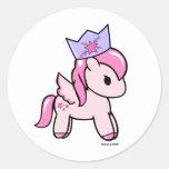 Pegatina redondo Dolce de princesa Pony el | y pot