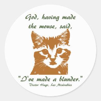 Pegatina redondo: El gato