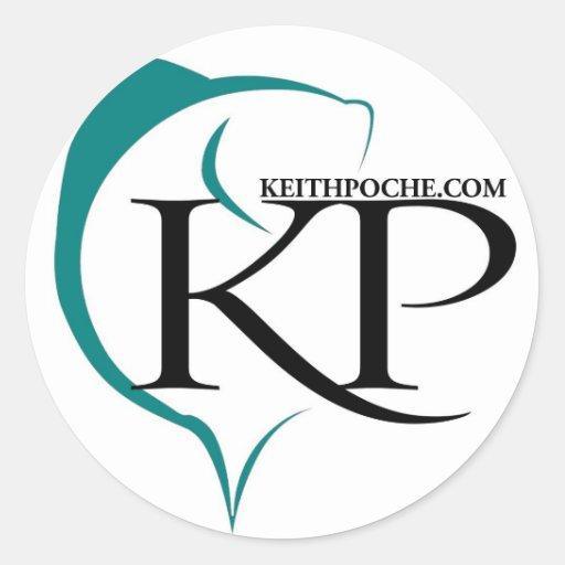 Pegatina redondo estilizado de KP