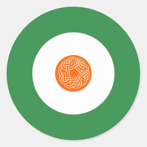 Pegatina redondo irlandés 2 de la MOD