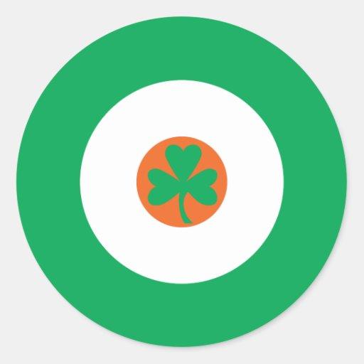Pegatina redondo irlandés 3 de la MOD