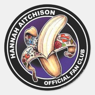Pegatina redondo - logotipo del club de fans de
