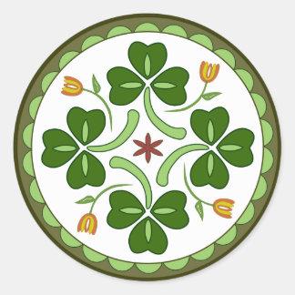 Pegatina redondo - maleficio irlandés de la buena