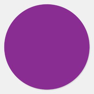 Pegatina redondo púrpura del ciruelo