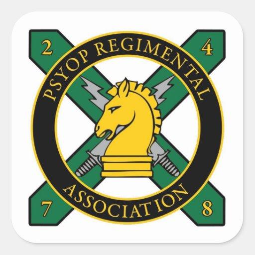 Pegatina regimental de la asociación de PSYOP