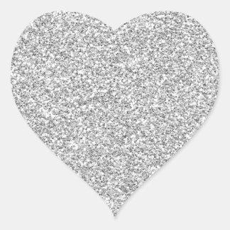 Pegatina reluciente de plata del Metal-esque