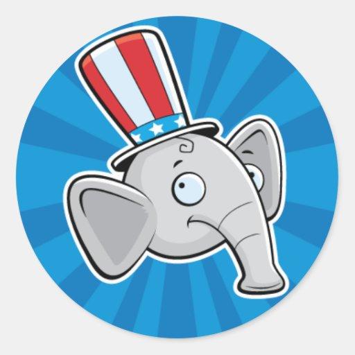 Pegatina republicano