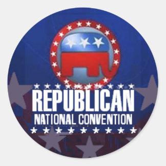 Pegatina republicano del convenio nacional