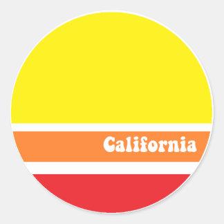 Pegatina retro de California