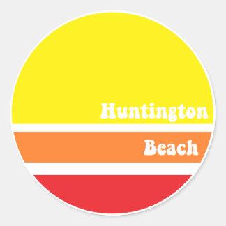 Pegatina retro de Huntington Beach
