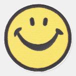 PEGATINA RETRO DE LA CARA DE SMILIE