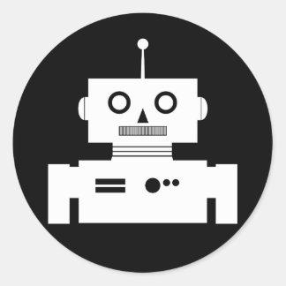 Pegatina retro de la forma del robot