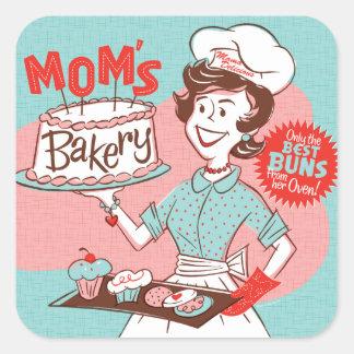 Pegatina retro de la panadería de la mamá -