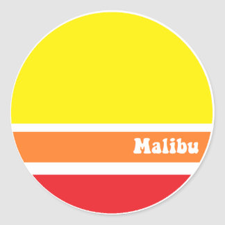 Pegatina retro de Malibu