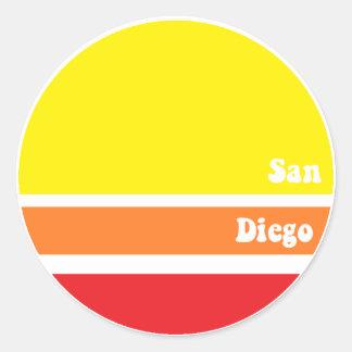 Pegatina retro de San Diego