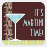 Pegatina retro del cóctel de Martini