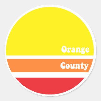 Pegatina retro del Condado de Orange