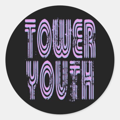 Pegatina retro del logotipo de la juventud de la