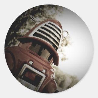 Pegatina retro del robot 01 de Robby del juguete