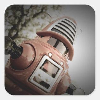 Pegatina retro del robot 02 de Robby del juguete