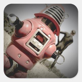 Pegatina retro del robot 04 de Robby del juguete