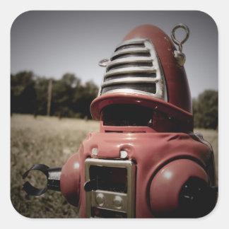 Pegatina retro del robot 06 de Robby del juguete