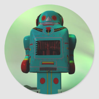 Pegatina retro del robot del juguete