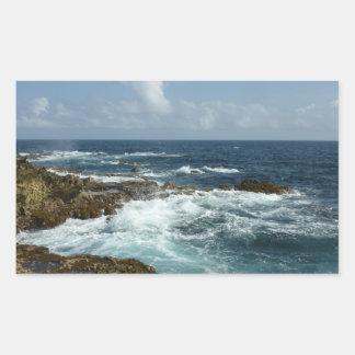Pegatina rocoso de la costa de Aruba