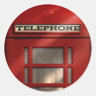 Pegatina rojo británico de la cabina de teléfonos