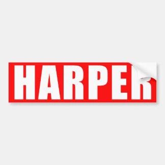 Pegatina rojo de Harper Pegatina De Parachoque