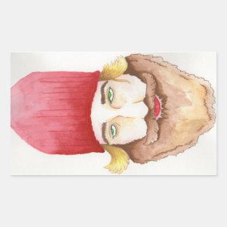 Pegatina rojo de la barba