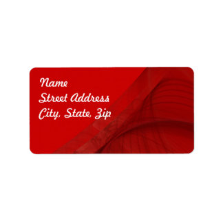 Pegatina rojo de la dirección del fondo del etiqueta de dirección