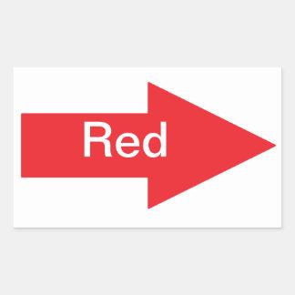 Pegatina rojo de la flecha