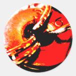 Pegatina rojo de la lavadora de Steampunk