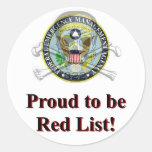 Pegatina rojo de la lista