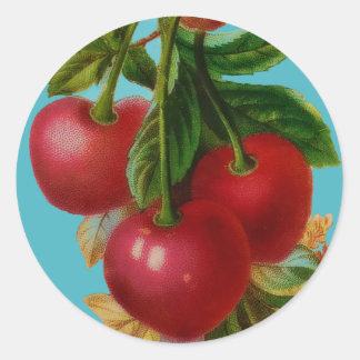 Pegatina rojo de las cerezas