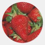 Pegatina rojo de las fresas